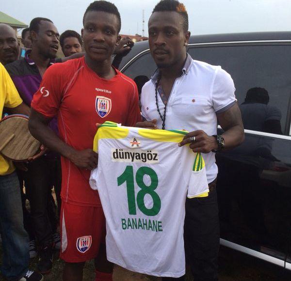 Emmanuel Banahene and captain Joseph Aidoo.