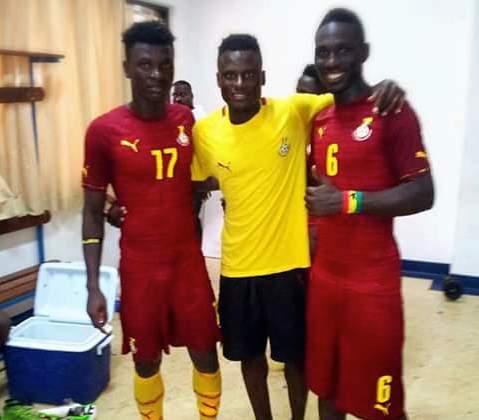 Baba Mensah and his teammates