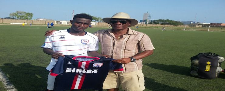 Isaac Twum and IAFC Technical director Willie Klutse.