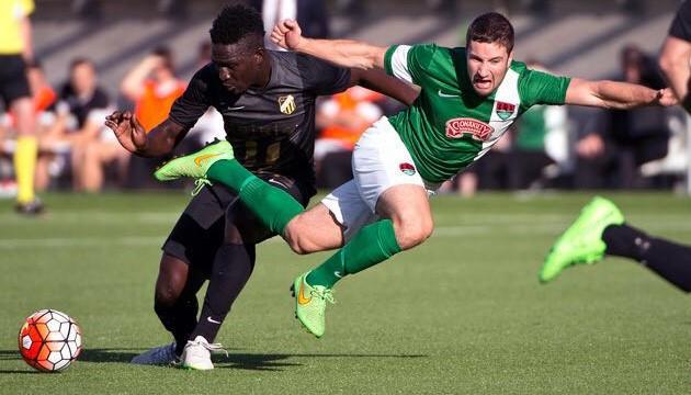 Baba Mensah Baba Mensah scores first goal for BK Hacken Inter Allies FC