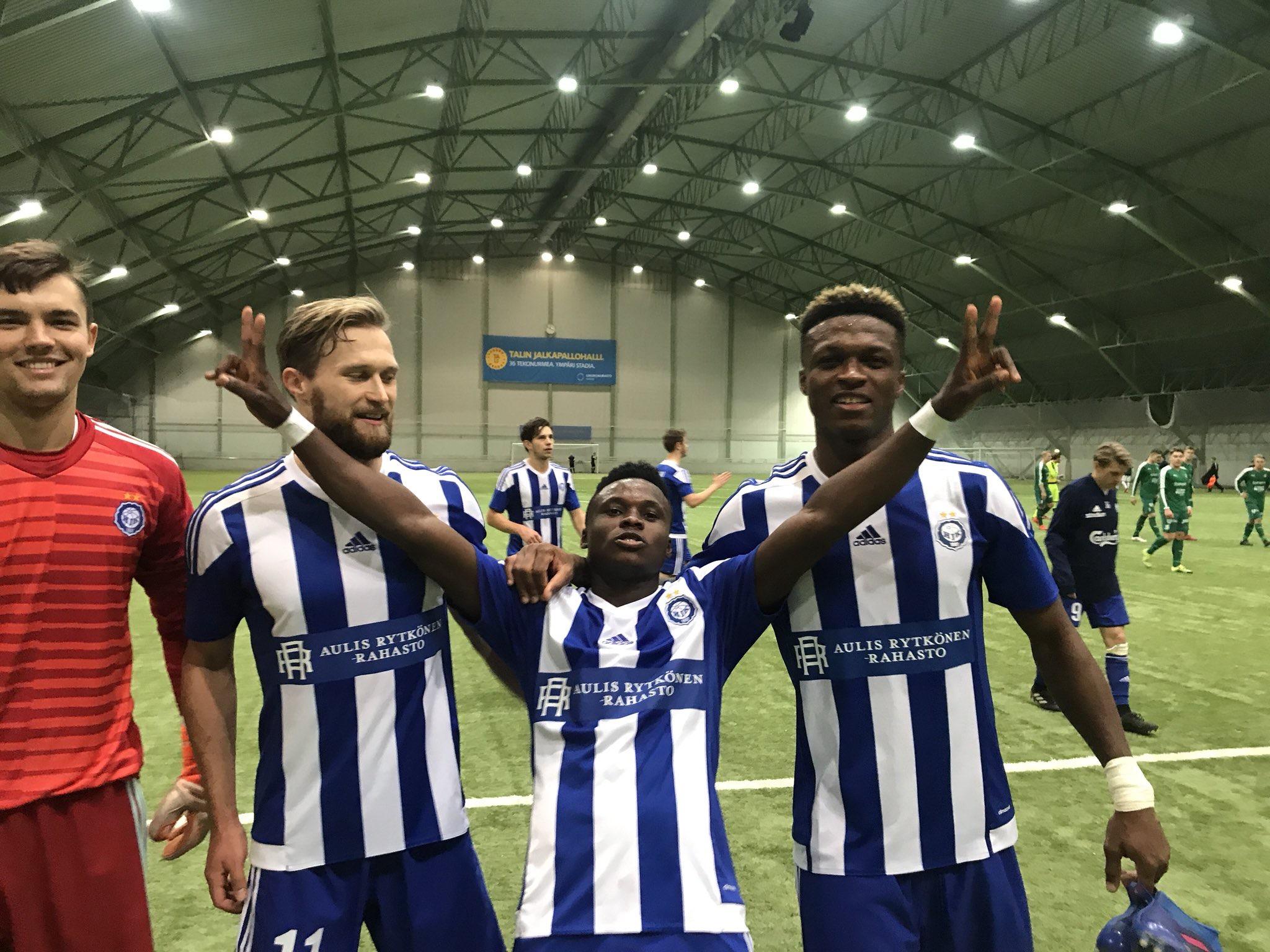 Evans Mensah features in HJK heavy win