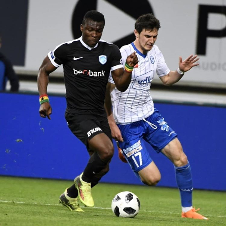 Joseph Aidoo features in KRC Genk's win