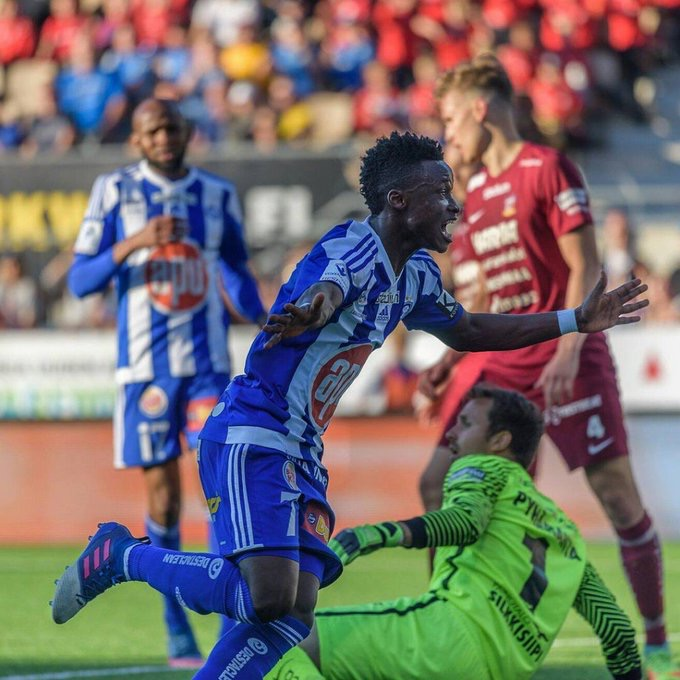 Evans Mensah scores again for HJK