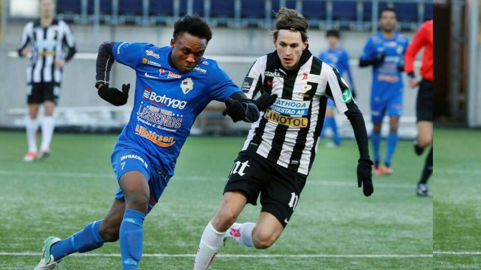 Lawson Sabah plays in Linköping City's defeat