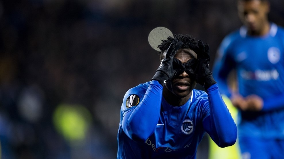 Joseph Aidoo scores in Genk's Europa League win