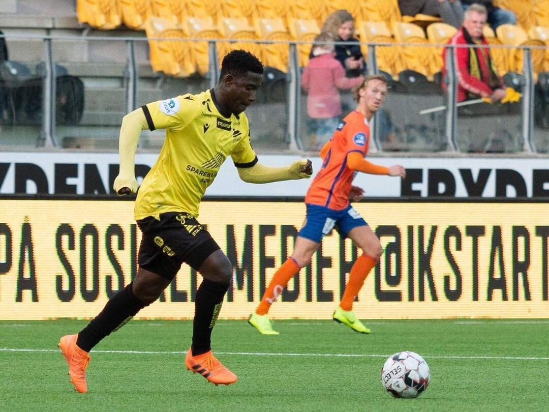 Twum plays as center back in IK Start's league win