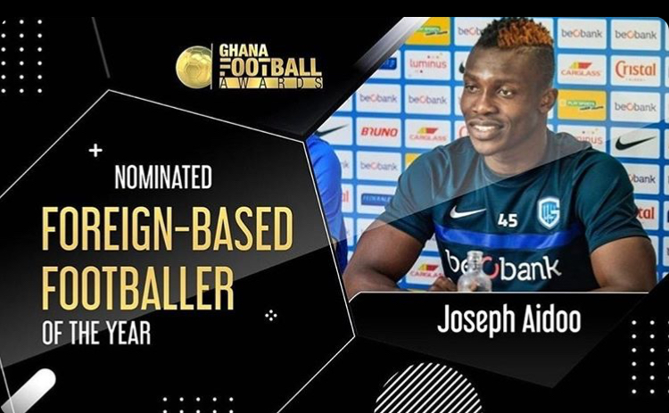 Joseph Aidoo nominated for Ghana Football Awards Foreign Player of the Year award