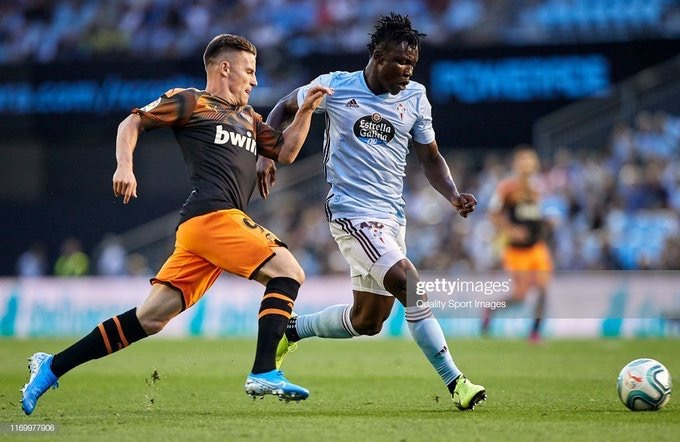 Joseph Aidoo shines on La Liga debut with Celta Vigo