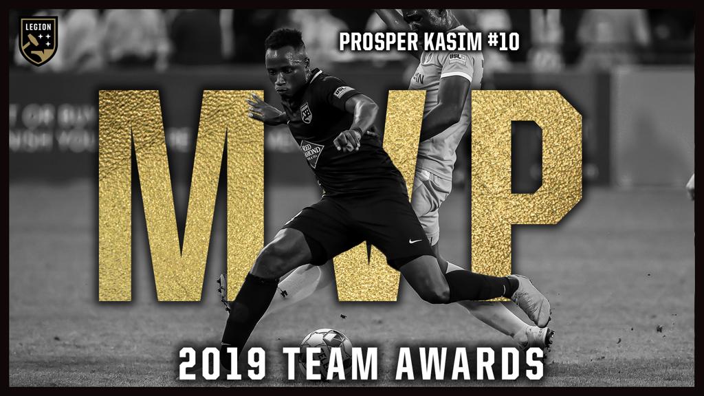 Ex-Allies forward Prosper Kasim named Legion FC MVP
