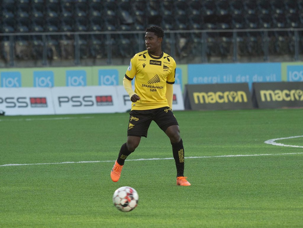 NORWAY - Isaac Twum starts for the first time this season as Start draw with Brann
