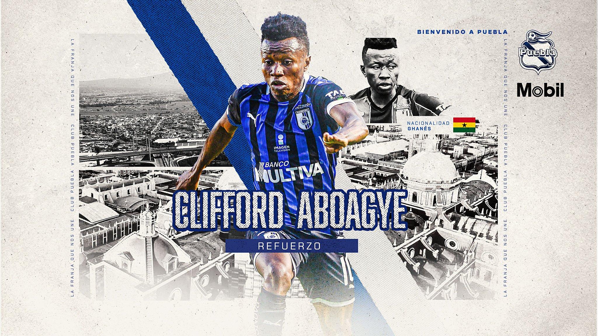 Clifford Aboagye signs for Club Puebla