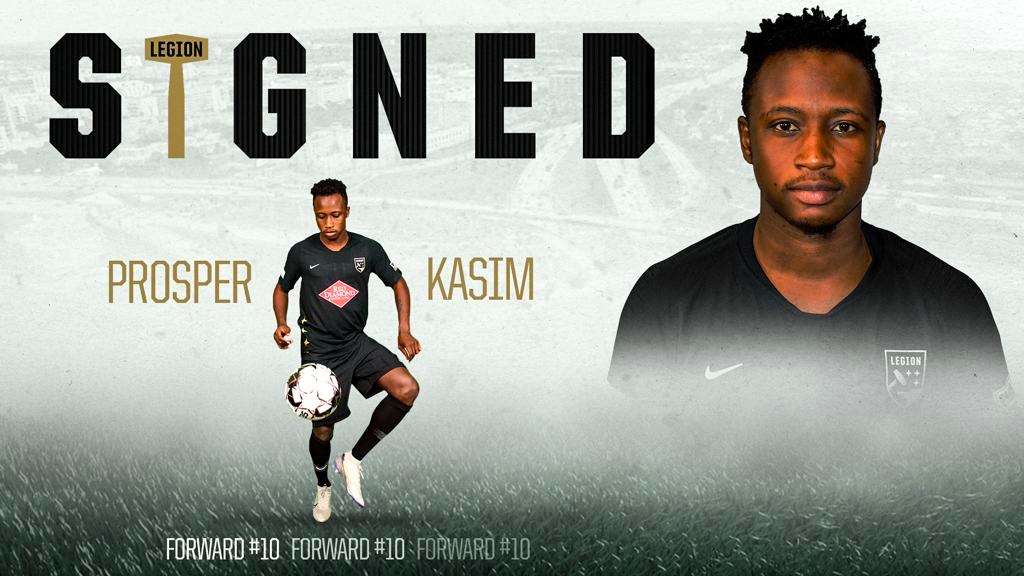 Legion FC Re-Signs Ex-Allies Forward Prosper Kasim